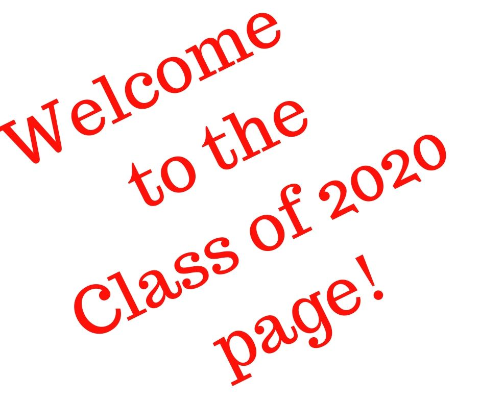 class of 2020 page