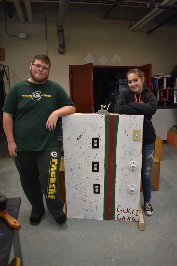 Matt & Emma with their Electrical Wall