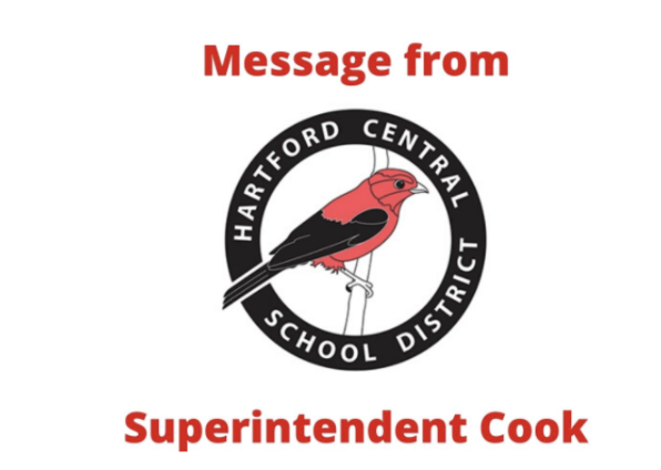 message from Superintendent Cook